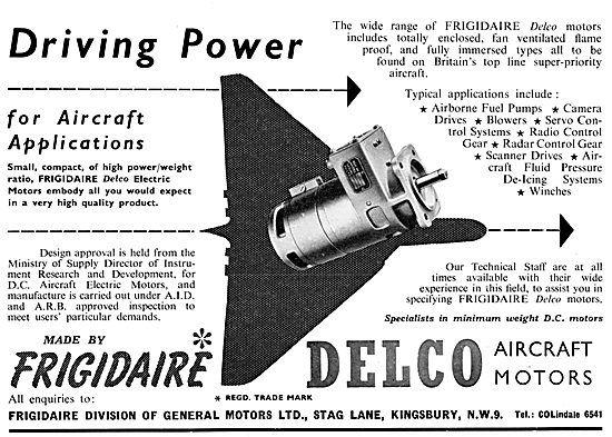 Delco Electric Motors Made By Frigidaire