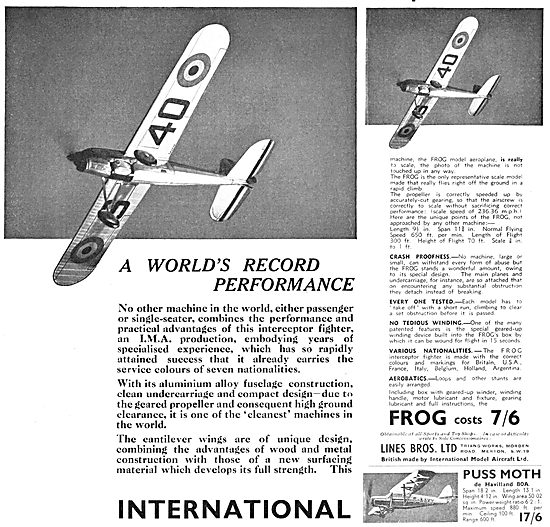Frog Model Aircraft 1933