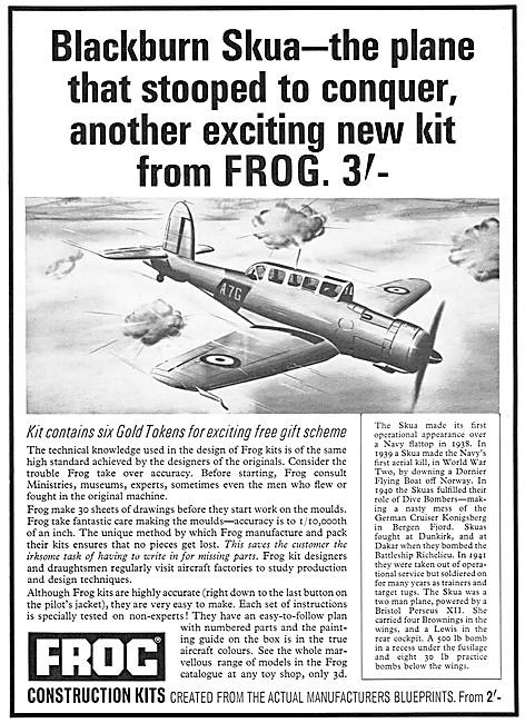 Frog Model Aircraft - Frog Blackburn Skua