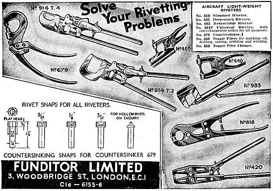 Funditor Ltd. 3,Woodbridge St. E.C.1.  Riveting Equipment