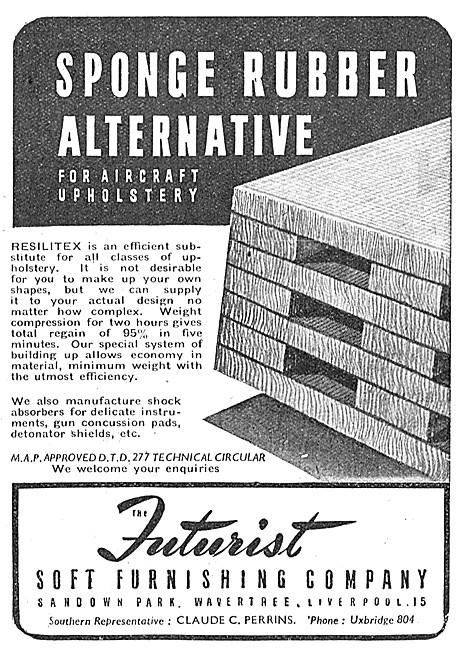 Futurist Soft Furnishing - Resilitex Sponge Rubber Alternative