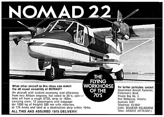 Government Aircraft Factories GAF Nomad 22
