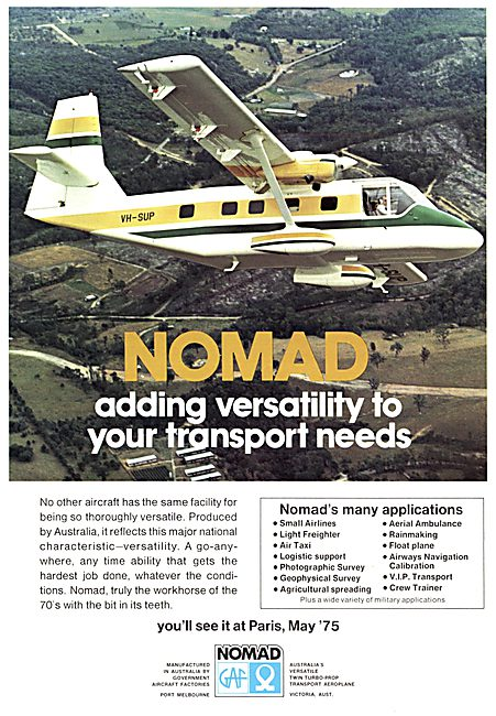 Government Aircraft Factories GAF Nomad