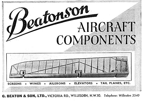 G.Beaton & Son: Beatonson: Manufacturers Of Aircraft Components