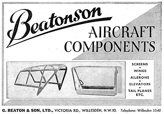 G.Beaton- Beatonson Aircraft Component Manufacturers