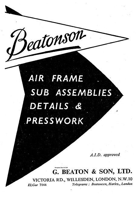 G. Beaton Air Frame Sub Assemblies & Presswork