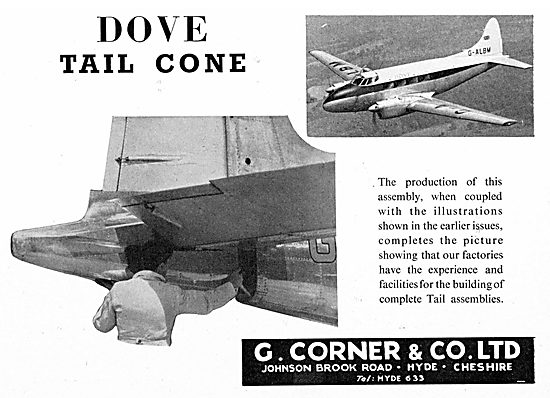 G.Corner Aircraft Engineers, Component & Assembly Manufacturers