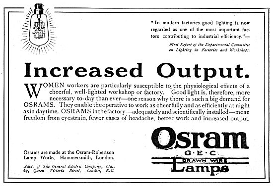 Osram Lamps - G.E.C. Osram-Robertson Lamp Works