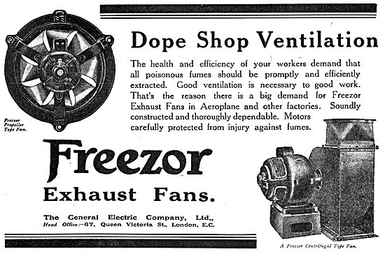 G.E.C. Freezor Exhaust Fans For Dope Shops