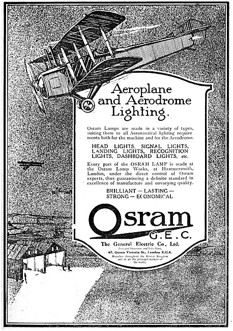 General Electric Co. G.E.C.  Airfield & Aircraft Lighting 1919