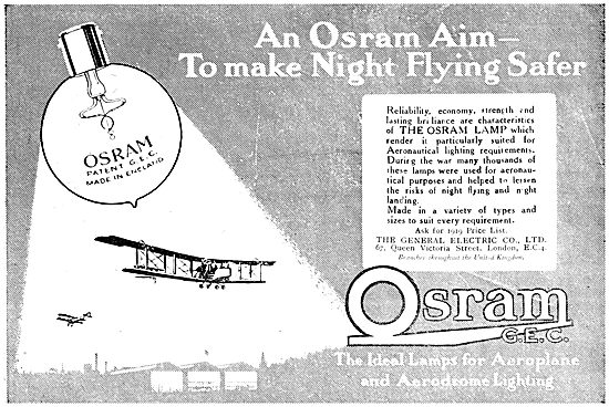 G.E.C  Osram Airfield & Aircraft Lighting.