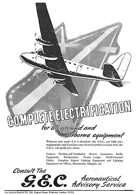 GEC Airport Electrical Installations 1949