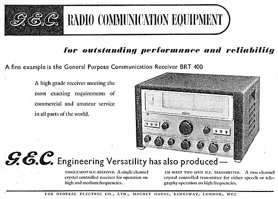 GEC Airport Communications Systems. BRT 400 Radio Receiver
