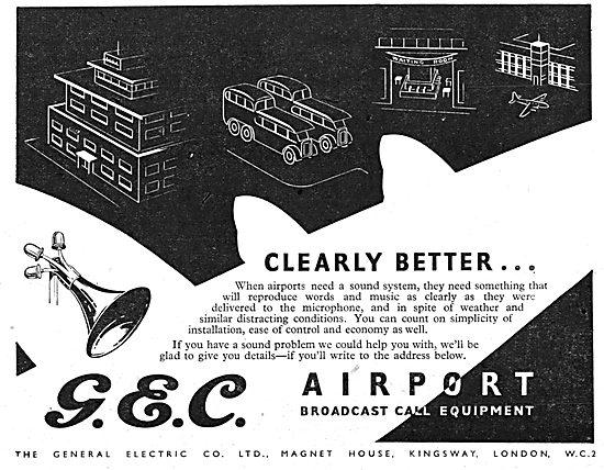 G.E.C. Airport Broadcast Call Equipment