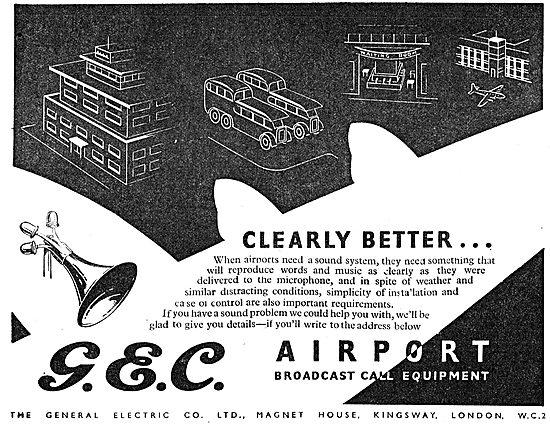 GEC Airport Broadcast Call Equipment
