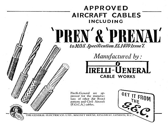 GEC Pirelli Pren & Prenal Elcetrical Cables