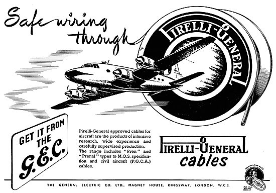 GEC Pirelli Aircraft Electrical Wiring Cables