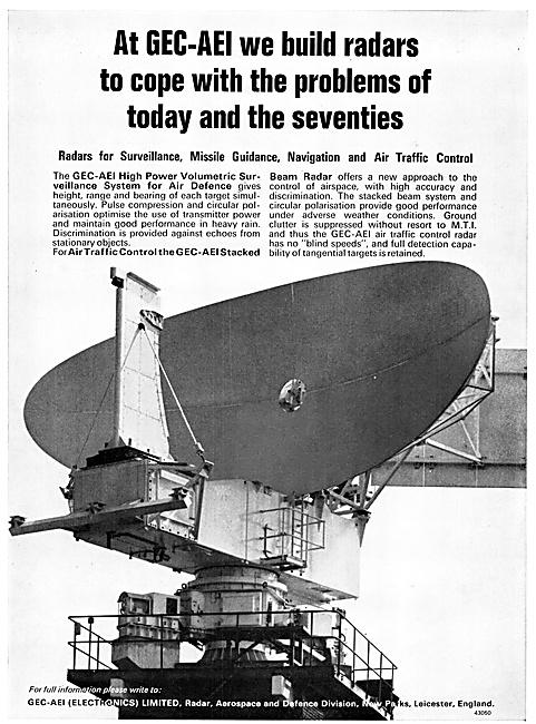GEC-AEI Electronics Air Traffic Control Radars