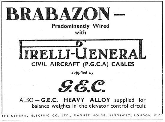 GEC Pirelli-General  (P.G.C.A.) Aircraft Electrical Cables