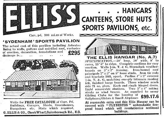 G.Ellis & Co - Airfield Hangars, Canteens & Huts