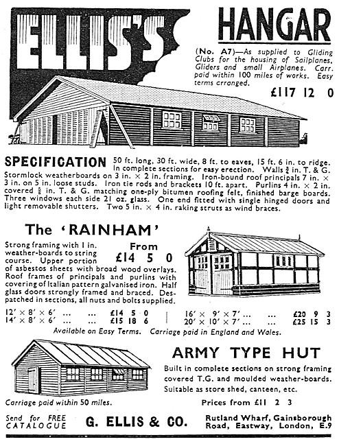 G.Ellis & Co - Airfield Hangars, Canteens & Army Huts