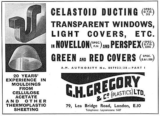 G.H.Gregory. Celastoid Ducting. Novellon Perspex