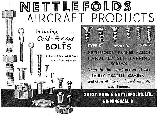 Guest Keen & Nettlefolds. GKN. Nettlefolds Aircraft Products