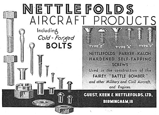 Guest Keen & Nettlefolds AGS Parts 1939
