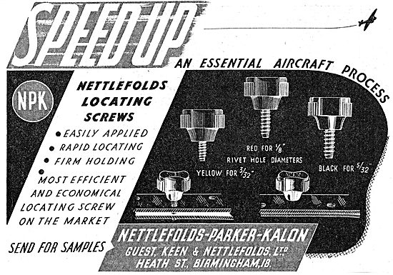GKN Nettlefolds-Parker-Kalon. AGS Parts 1942 Advert