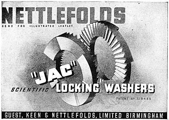 Guest Keen & Nettlefolds GKN Fasteners & AGS Parts 1943