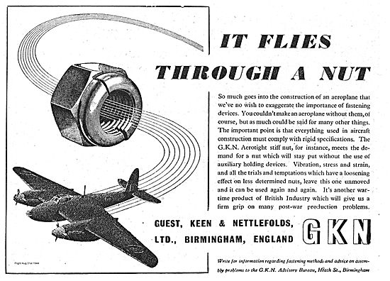 GKN Stiffnuts & Fasteners For Aircraft