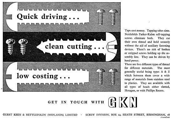 GKN Parker-Kalon Self Tapping Screws