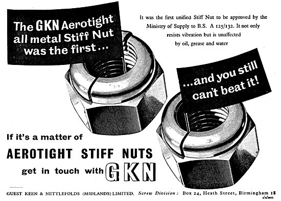 GKN Aerotight Stiff Nuts For Aircraft