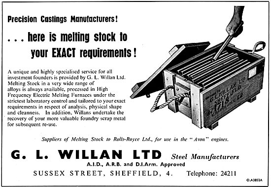 G.L.Willan. Steels. Melting Stock For Precision Castings