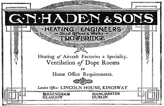 G.N.Haden & Sons. Industrial Heating & Ventilation Engineers. WW1
