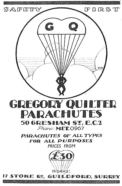 Gregory Quilter GQ Parachutes