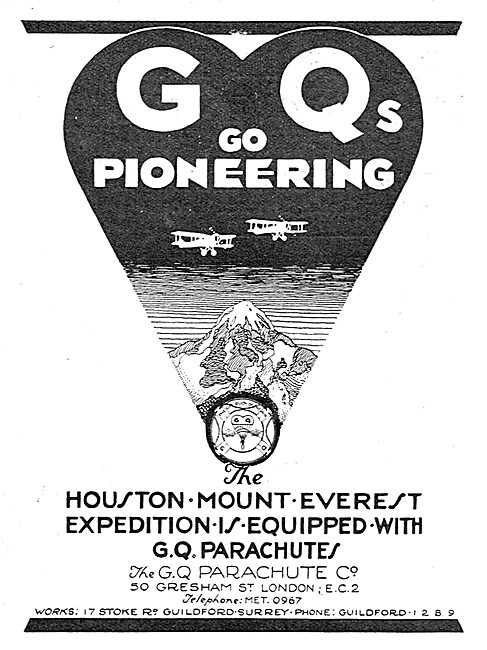 GQ Parachutes Everest Expedition