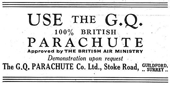GQ Air Ministry Approved Parachutes
