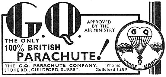 GQ 100% British Air Ministry Approved Parachutes
