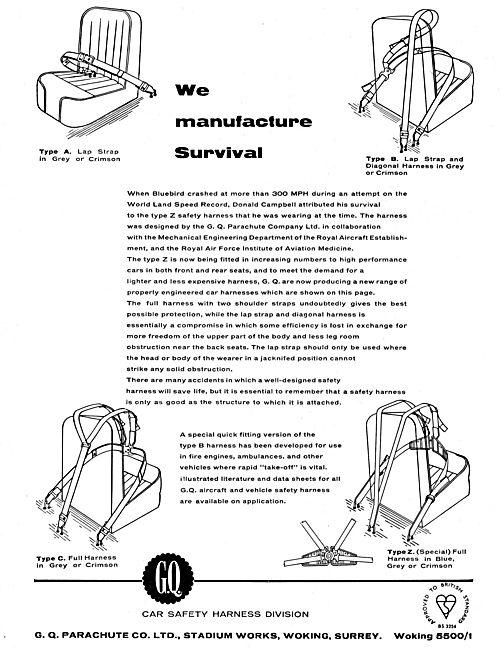 GQ Parachute Type A Aircraft Passenger Seat Lap Strap
