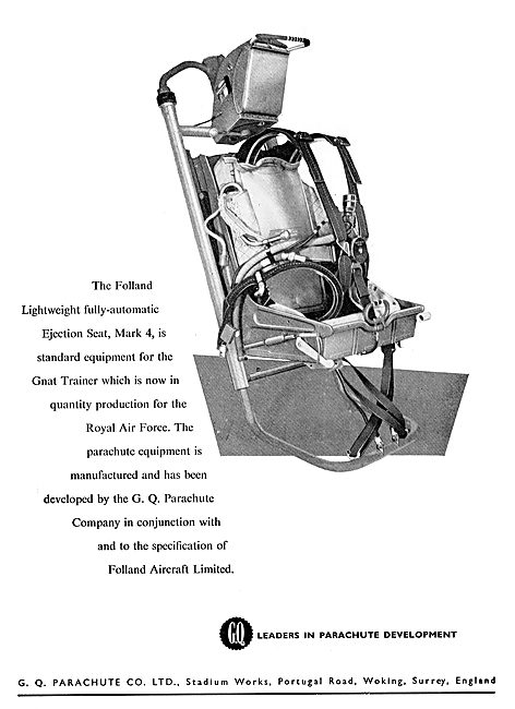 GQ Parachutes Selected For The Folland Ejection Seat
