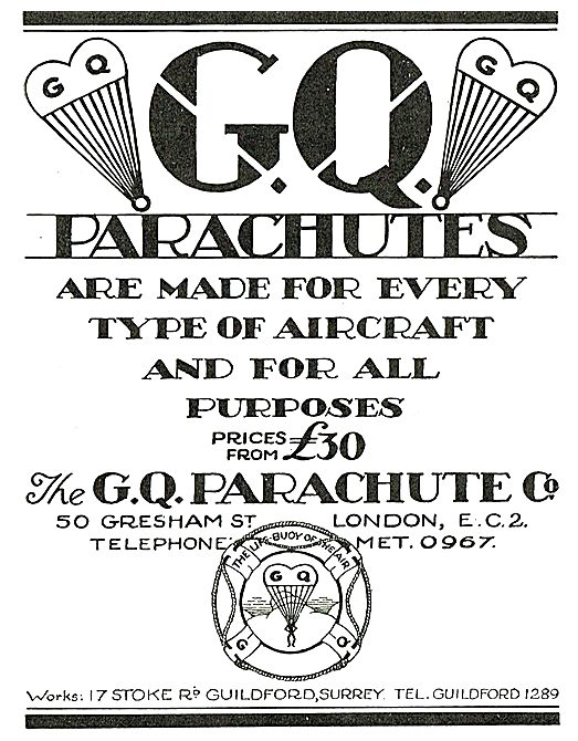 GQ Parachutes Prices From £30.00