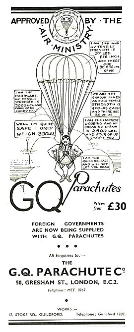 GQ Parachutes Descriptive Cartoon