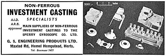 G.S.Engineering. Non-Ferrous Investment Casting