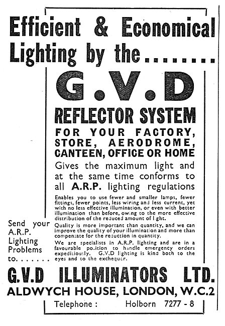 G.V.D.Illuminators. G.V.D.Factory Lighting System. A.R.P.