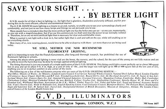 G.V.D.Illuminators. Factory Lighting System