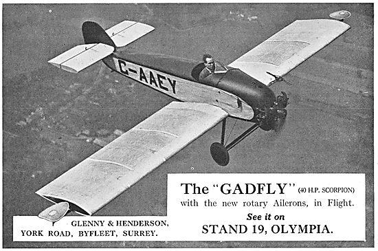 Glenny & Henderson Gadfly G-AAEY -  Pearson Rotary Ailerons
