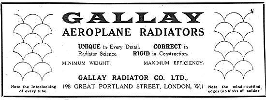 Gallay Aeroplane Radiators