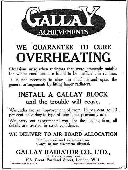 Gallay Aero Engine Radiators
