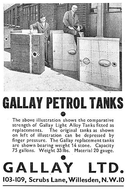 Gallay Aircraft Petrol Tanks